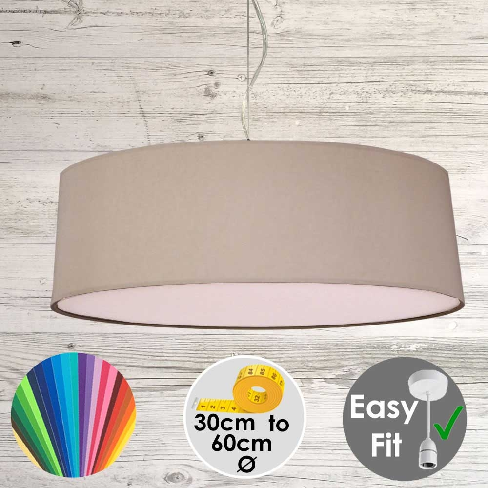 Taupe Drum Light Shade