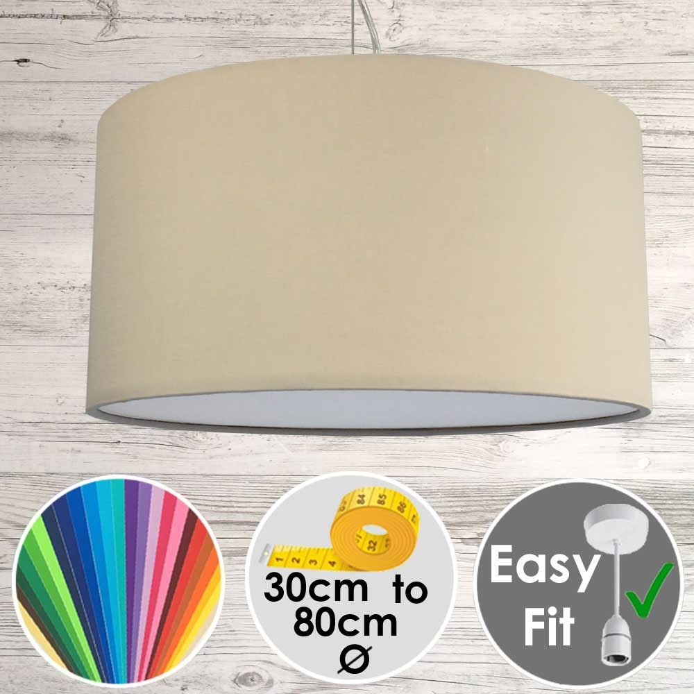 Taupe Drum Shade