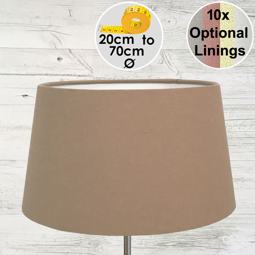 Aria Taupe Linen Lamp Shade