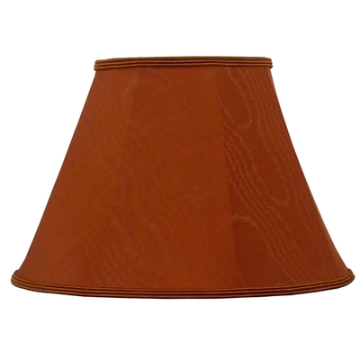 empire lampshade terracotta moire imperial lighting