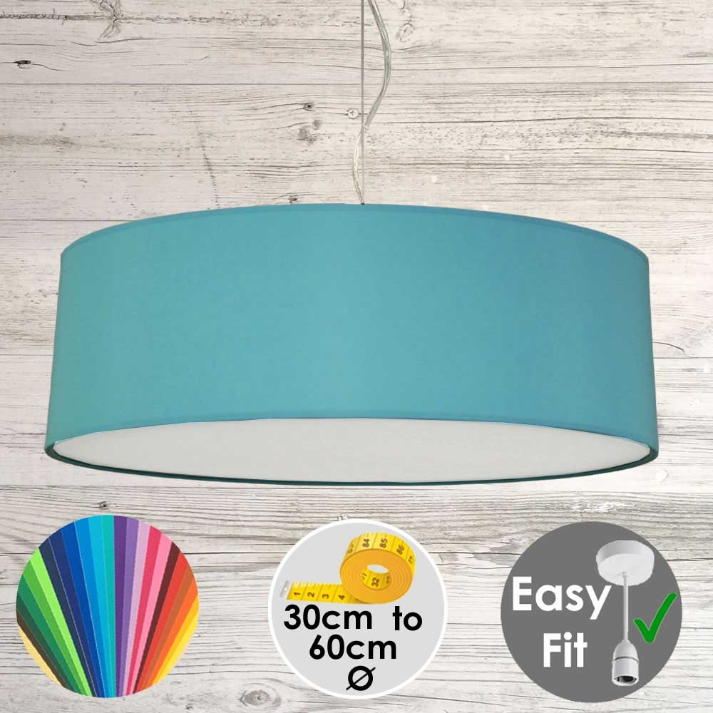 Turquoise Drum Light Shade