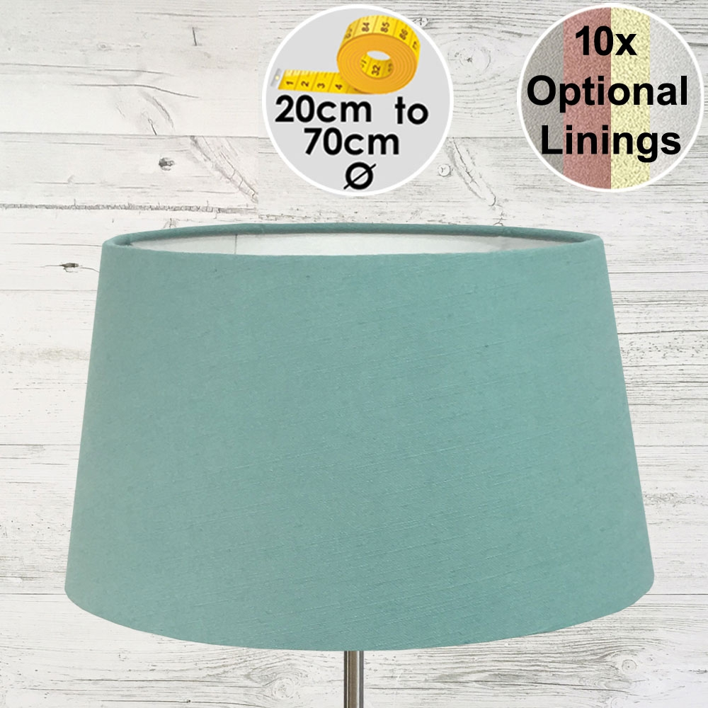 Aria Turquoise Linen Lamp Shade