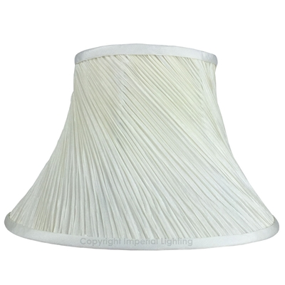 Twisted Pleat Pendant Lampshade in Cream