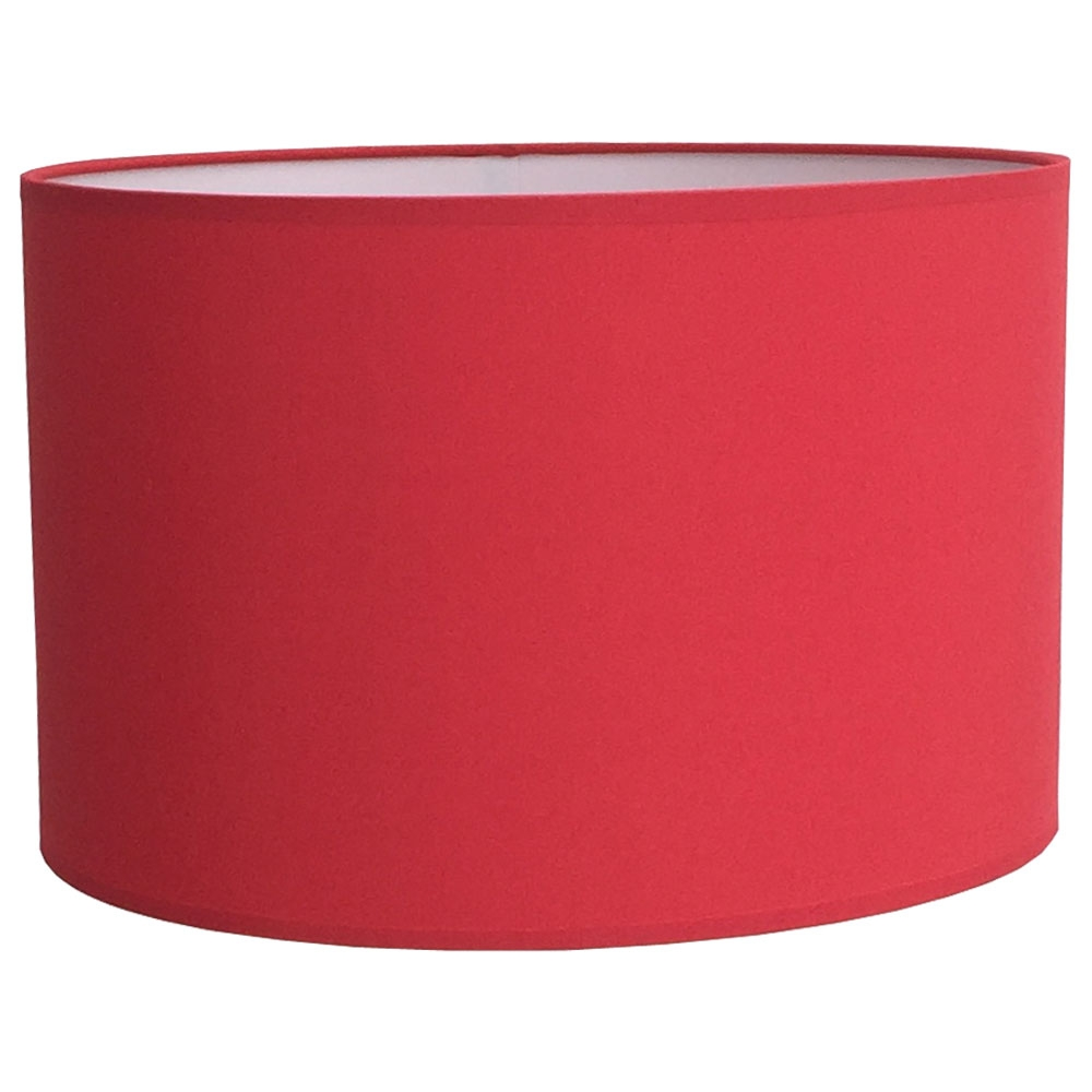 Drum Table Lampshade Warm Red