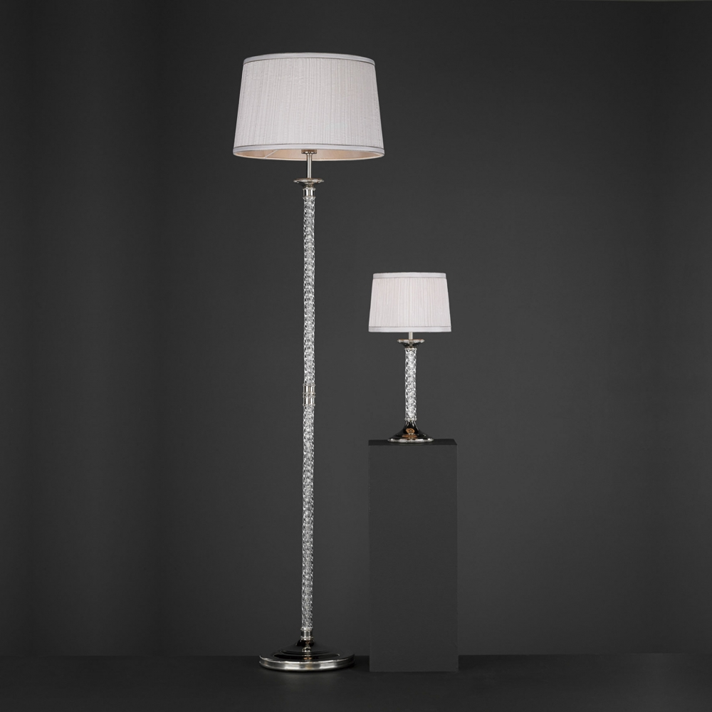floor lamps floor lamps twist glass floor lamp with ivory shade. Black Bedroom Furniture Sets. Home Design Ideas