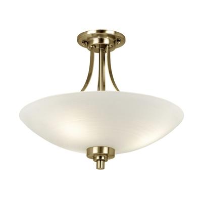 Welles 3 light Semi-Flush