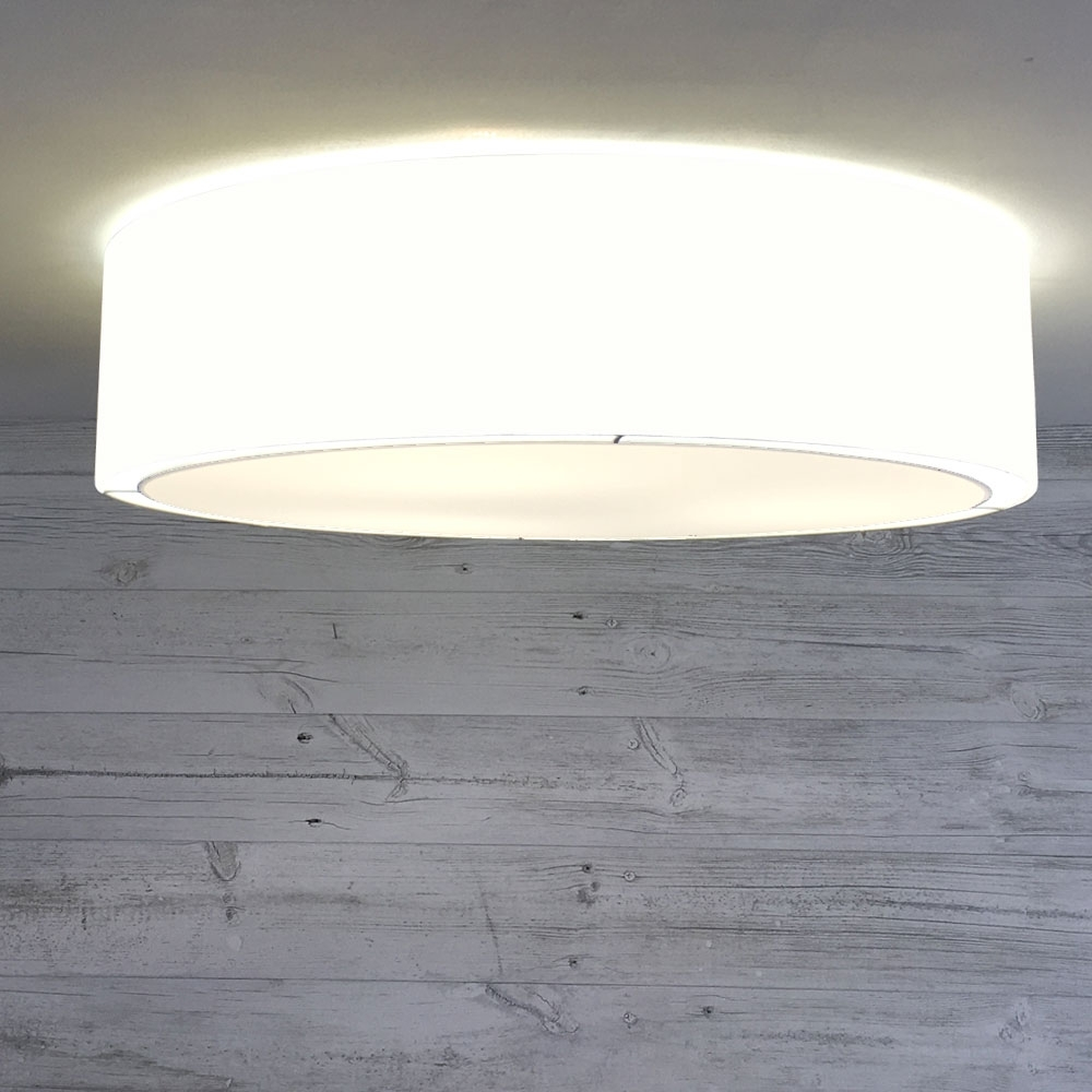 Flush Drum Shade Natural