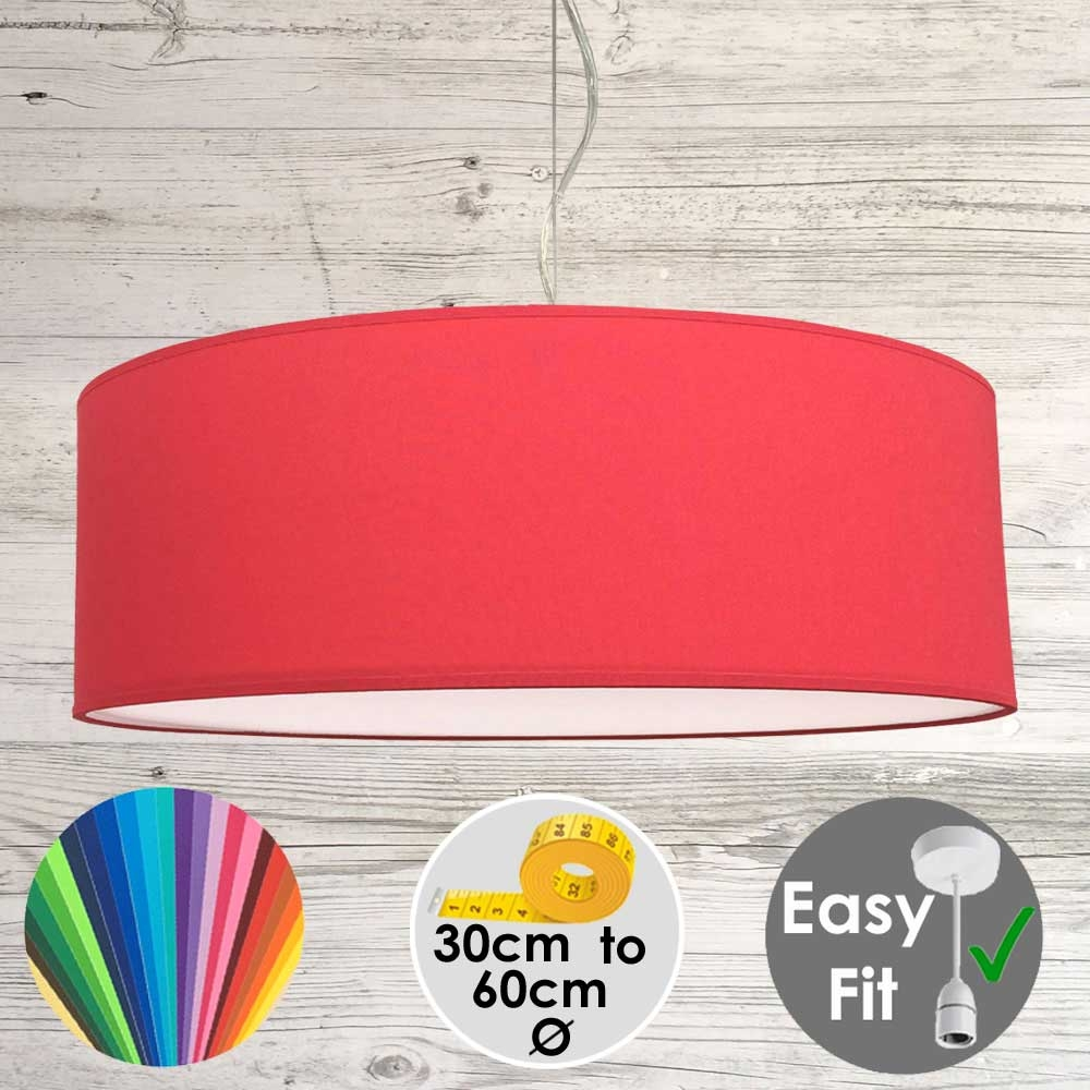 Warm Red Drum Light Shade