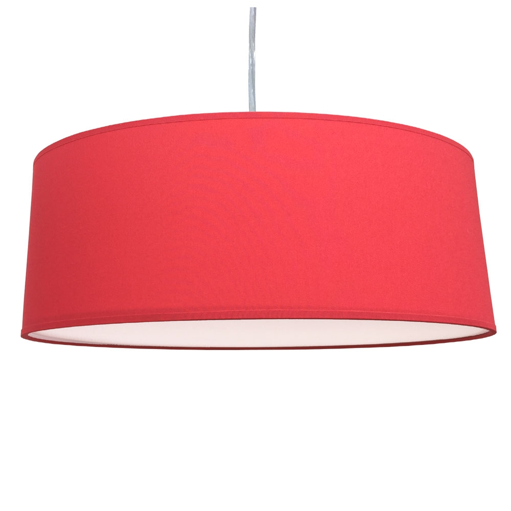 home modern lamp shades xl drum shade and suspension warm red. Black Bedroom Furniture Sets. Home Design Ideas
