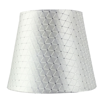 Crisscross White Empire Candle Lampshade