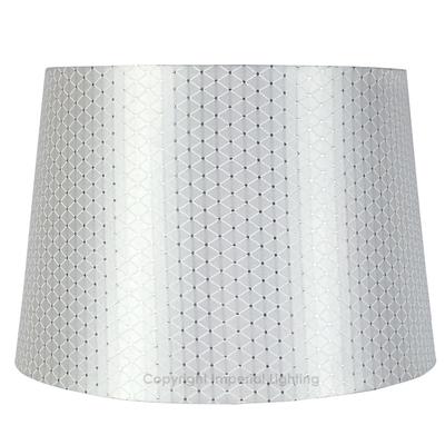 Crisscross White Empire Table Lampshade