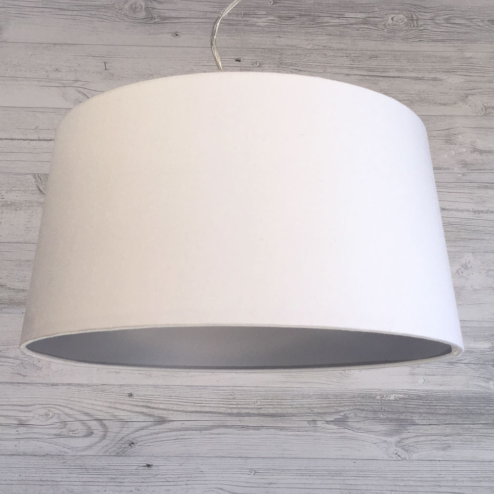 Large F. Drum White and Silver