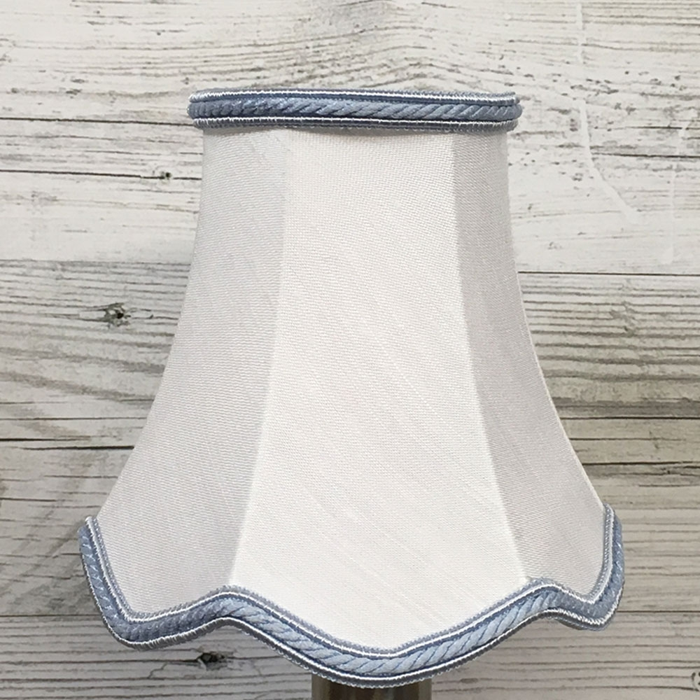 Scalloped Candle Shade White
