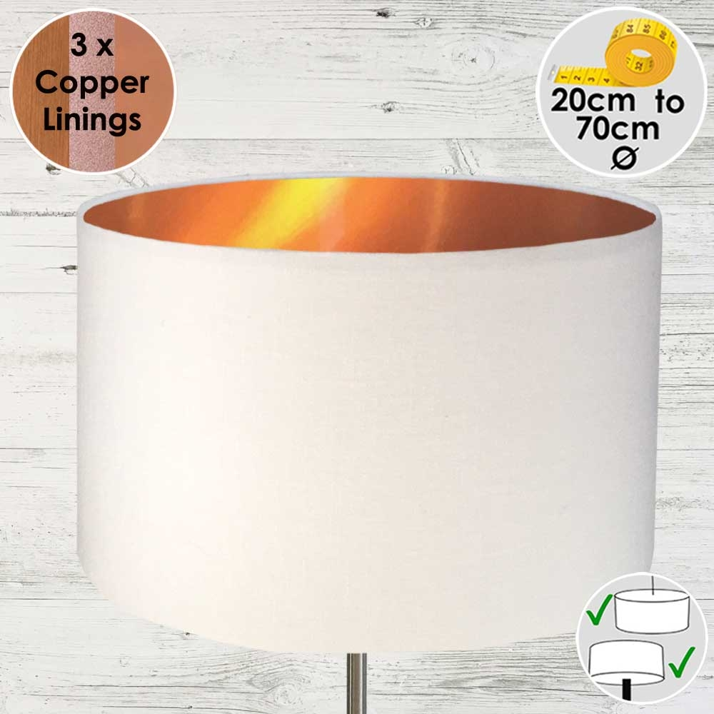 White and Copper Lampshade