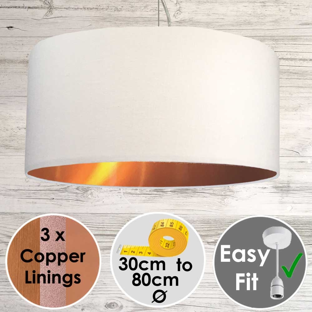 White and Copper Light Shade