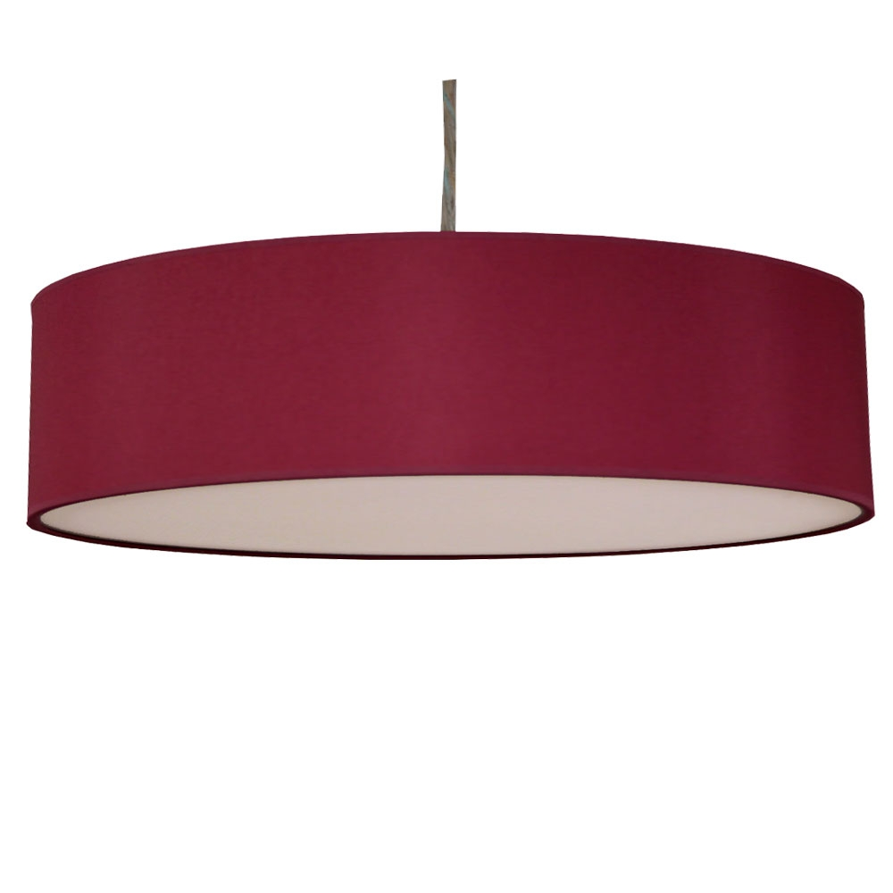 home modern lamp shades thin drum pendant shade in wine cotton. Black Bedroom Furniture Sets. Home Design Ideas