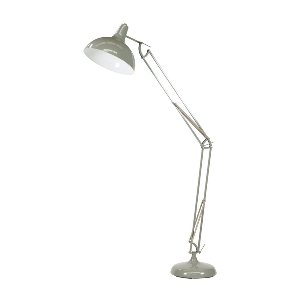 Alonzo Grey Floor Lamp