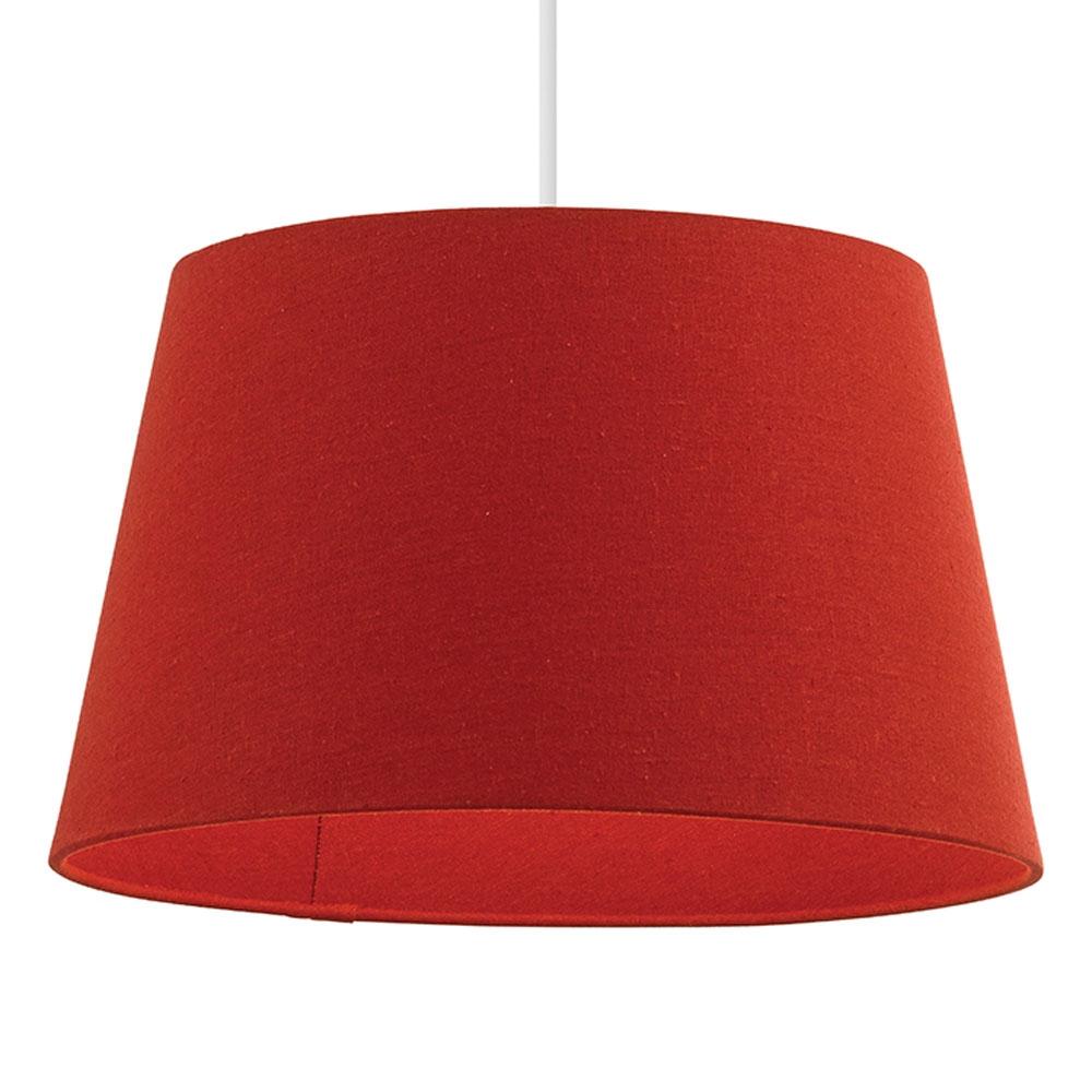 home modern lamp shades linen tapered drum red. Black Bedroom Furniture Sets. Home Design Ideas