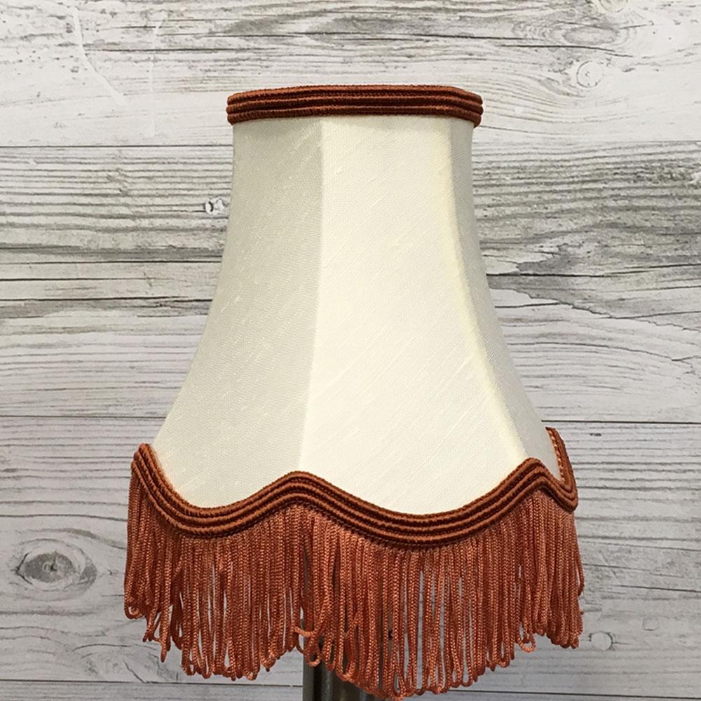 Cream Candle shade with Fringe