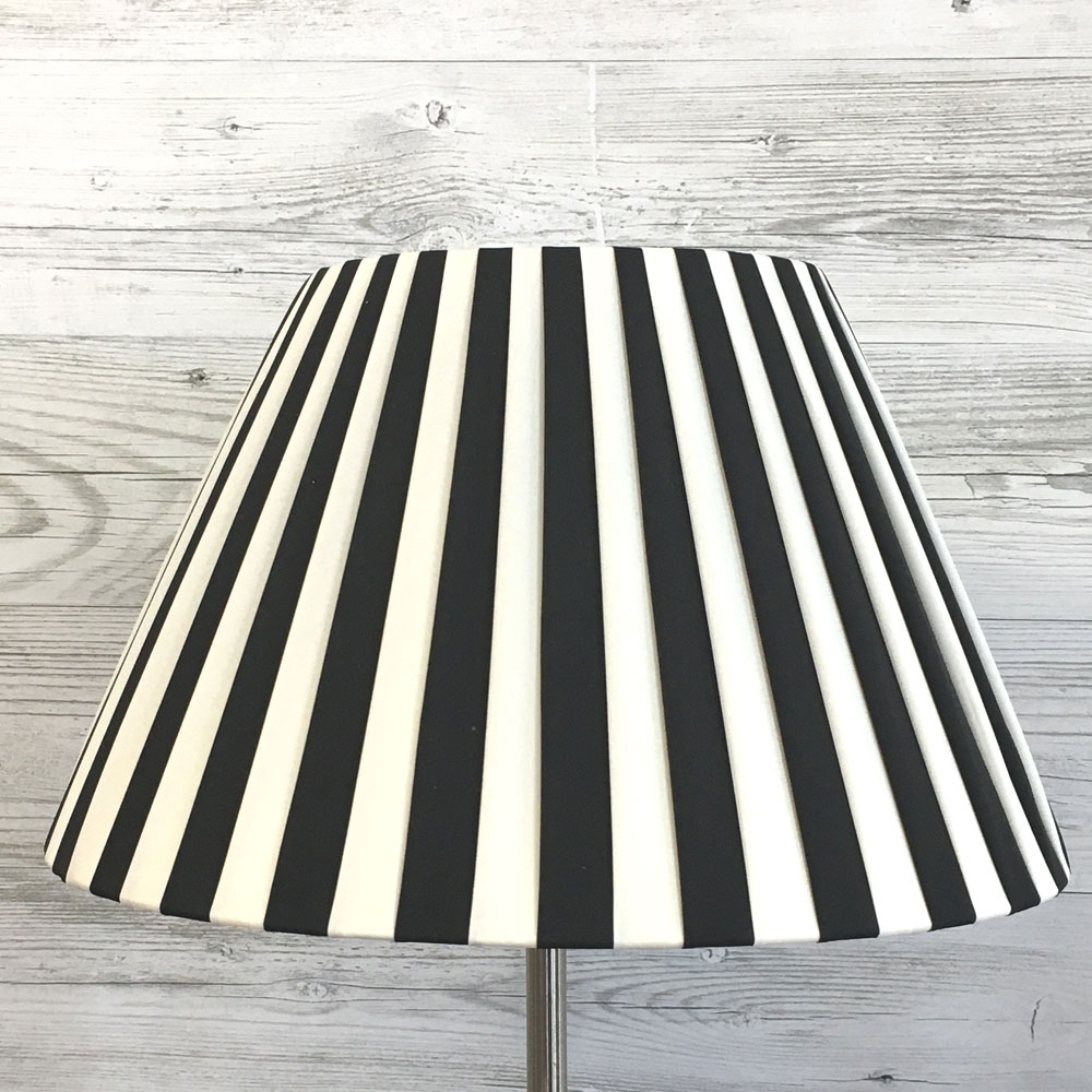 Black & white striped lampshade