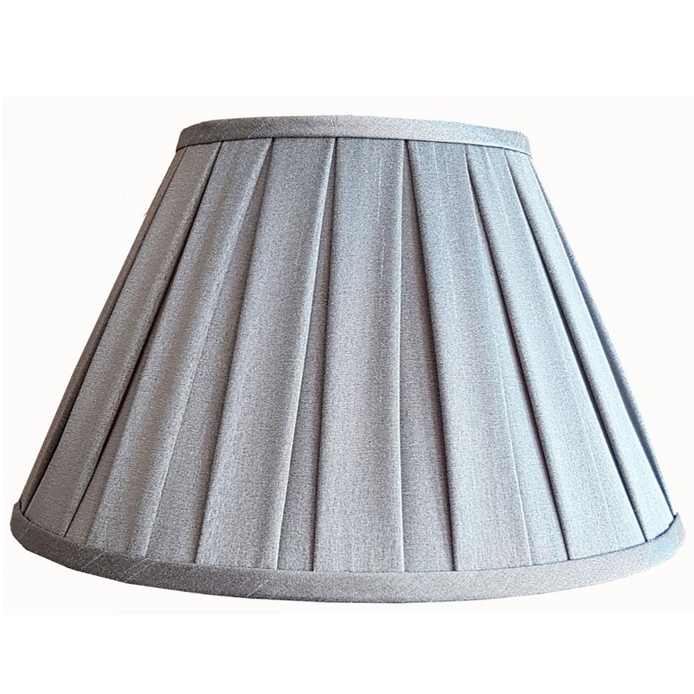 Enya Box Pleat Lampshade Grey