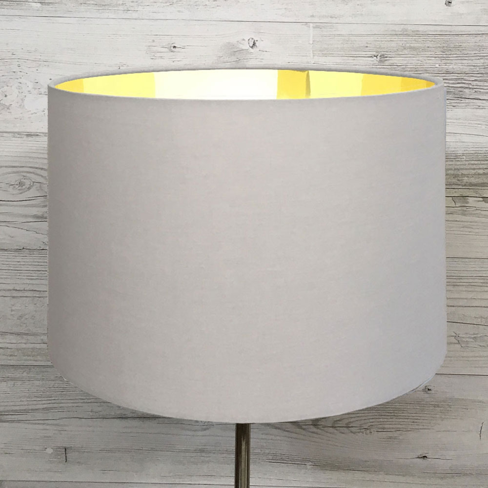 Eclipse Lampshade Grey/Gold