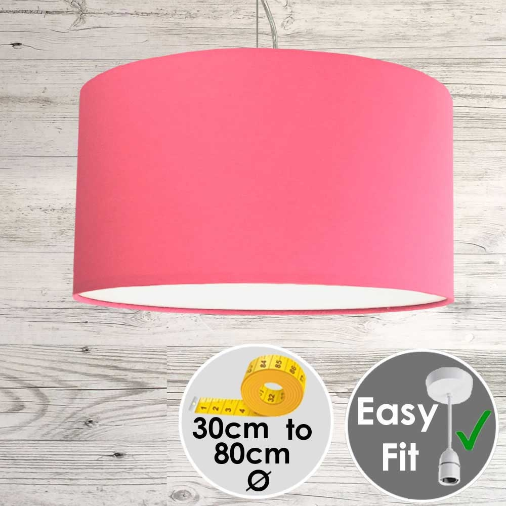 Hot Pink Drum Shade