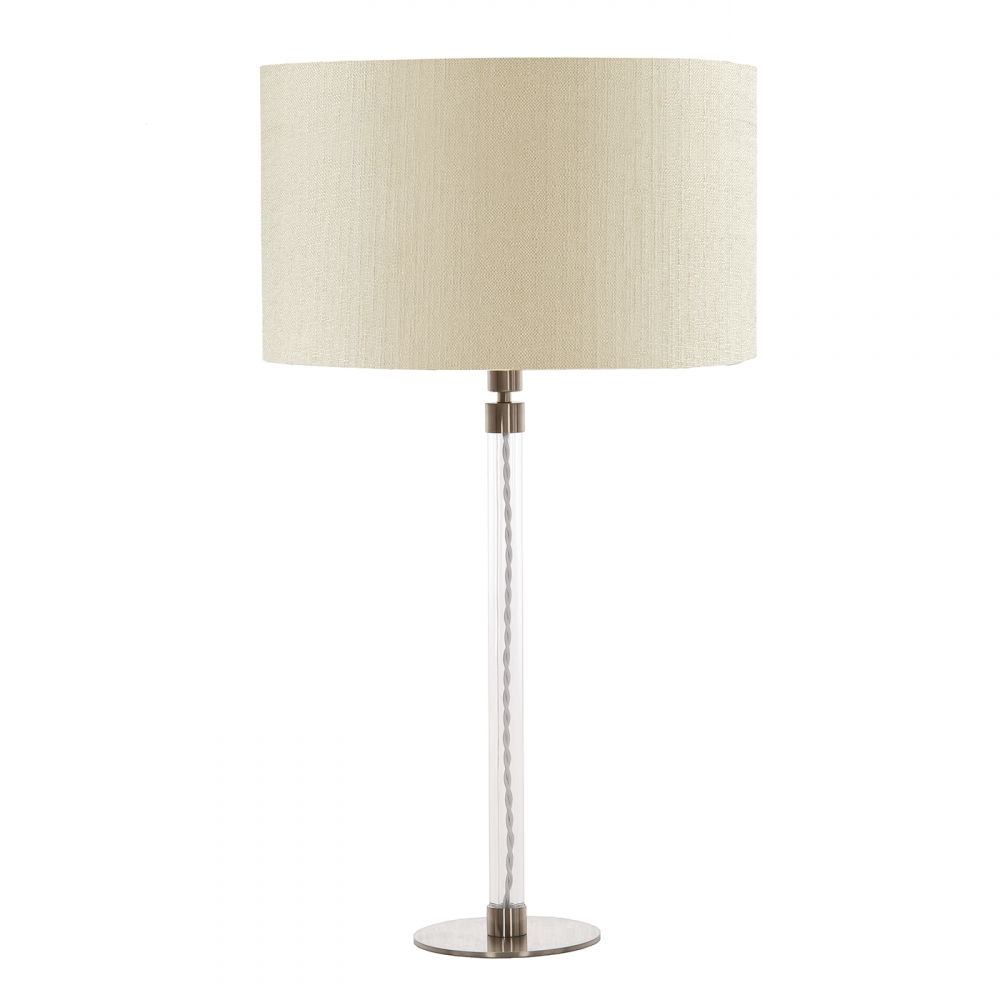 Flow table lamp & white shade