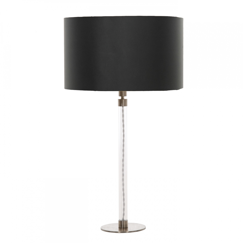 Flow table lamp & black shade