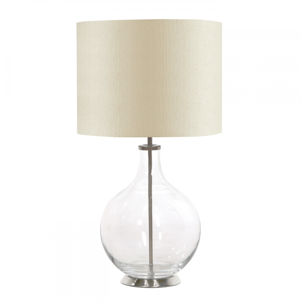 Orb clear table lamp