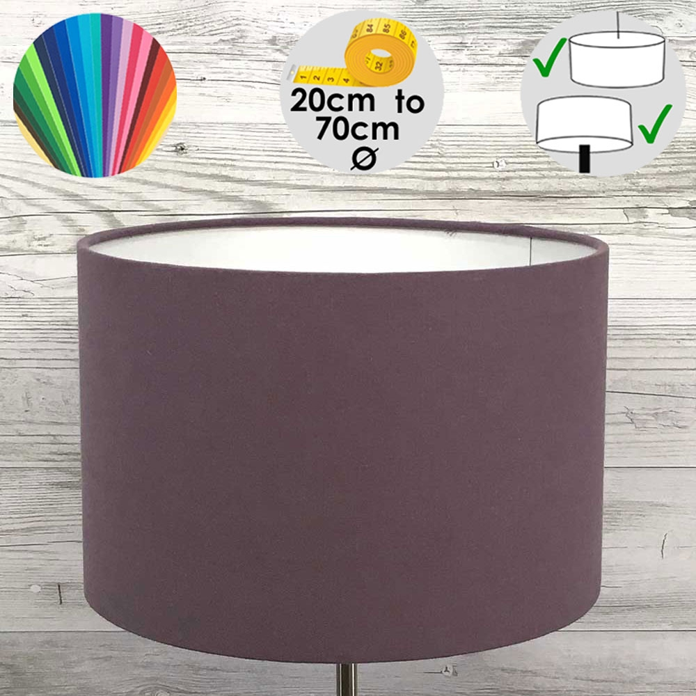 Aura Purple Drum Table lamp Shade