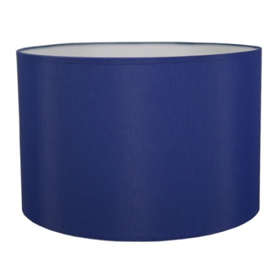Drum table lampshade in royal blue cotton imperial lighting