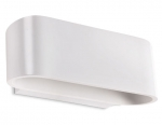 Curved Oval Matt White Wall Light