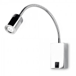 Aerial Curve Chrome LED Wall Light