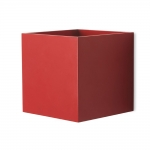 Cube Red LED Wall Light
