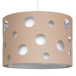 Cut Out Drum Ceiling Shade White