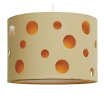 Cut Out Drum Shade Orange