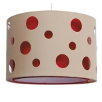Cut Out Drum Ceiling Shade Red
