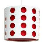 Cut Out Narrow Drum Shade Red