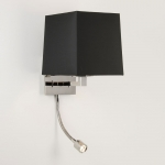 Square LED Wall Light in Polished Nickel