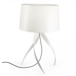 Medusa White Table Lamp and Shade