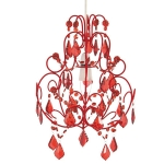 Flock Pendant Shade Red
