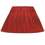Pinch Pleat Shade in Burgundy