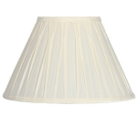 Pinch Pleat Candle Shade Cream