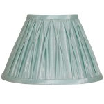 Pinch Pleat Candle Shade Duck Egg