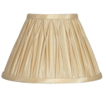 Pinch Pleat Candle Shade Gold
