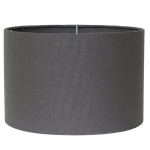 Drum Shade in Silver Linen