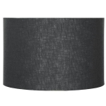 Drum Shade in Black Linen