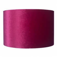 Velvet Drum Shade Pink