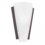 Antique Brown and Glass Cone Wall Light